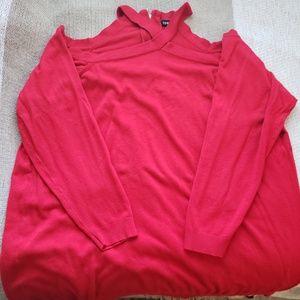 Torrid Red Cold Shoulder Sweater